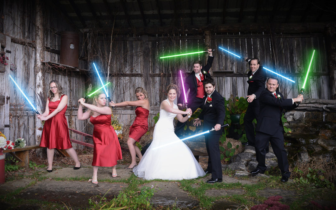Creating a Star Wars Wedding Photo