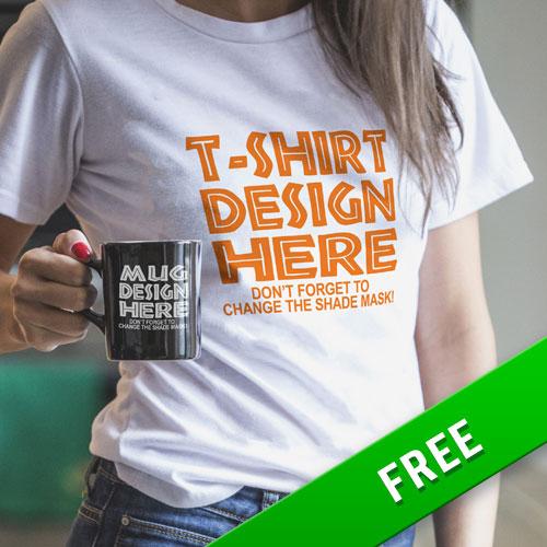 T-shirt & Mug Mockup