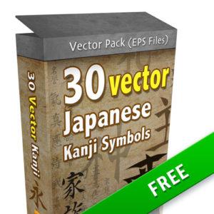 Kanji Vector Pack